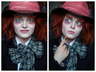 Mad Hatter- female make-up transformation by L-Justine