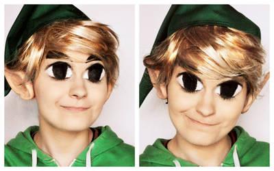 Legend of Zelda- toon Link makeup (with tutorial) by L-Justine