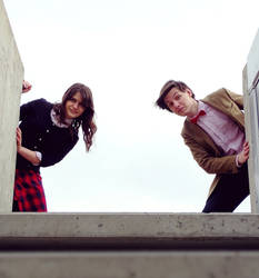 The Doctor and Clara Oswald 1 by L-Justine