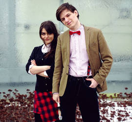 The Doctor and Clara Oswald 2 by L-Justine