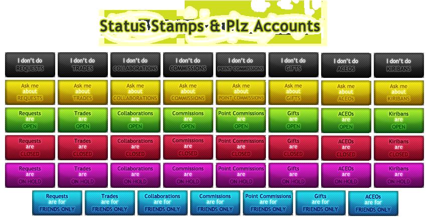 Status Stamps + Plz Accounts by SweetDuke