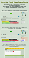How to Use Thumb Codes + Stamps on dA