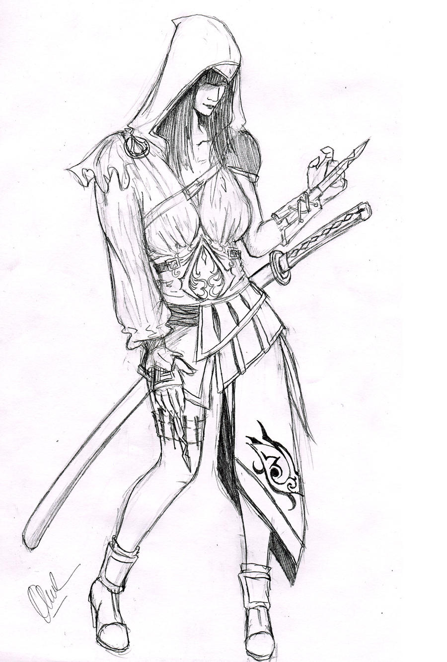 Anime Assassin Girl Drawing | www.imgkid.com - The Image ...