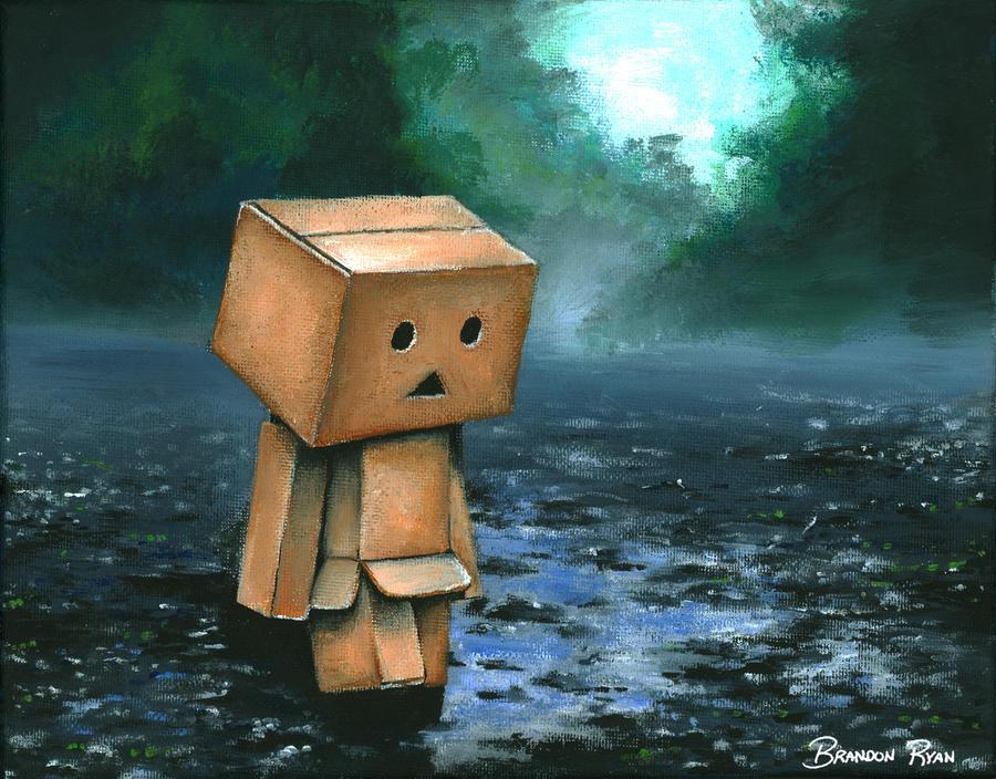 Danbo in the Rain by blue-brandon