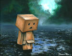 Danbo in the Rain by blue-brandon
