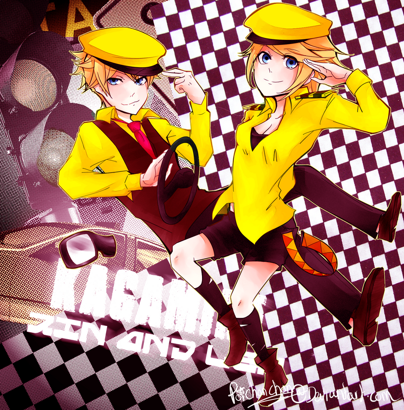 Kagamine Taxi Twins by Poichanchan