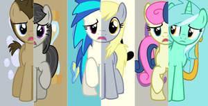 Backround Ponies - Cutie Mark Mix Up