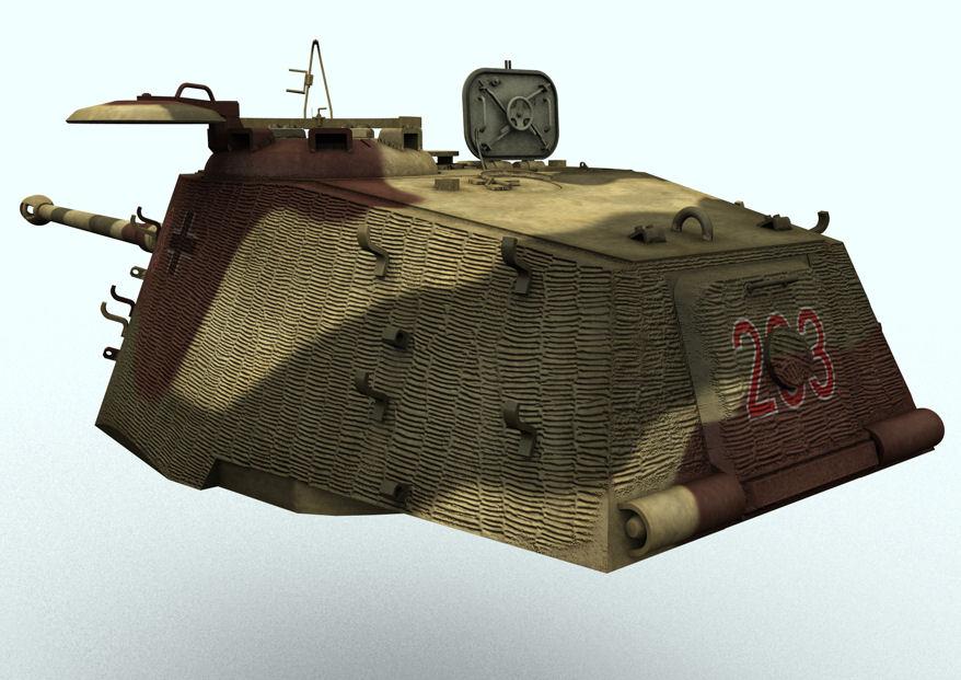Tiger II Turret w-Zimmerit