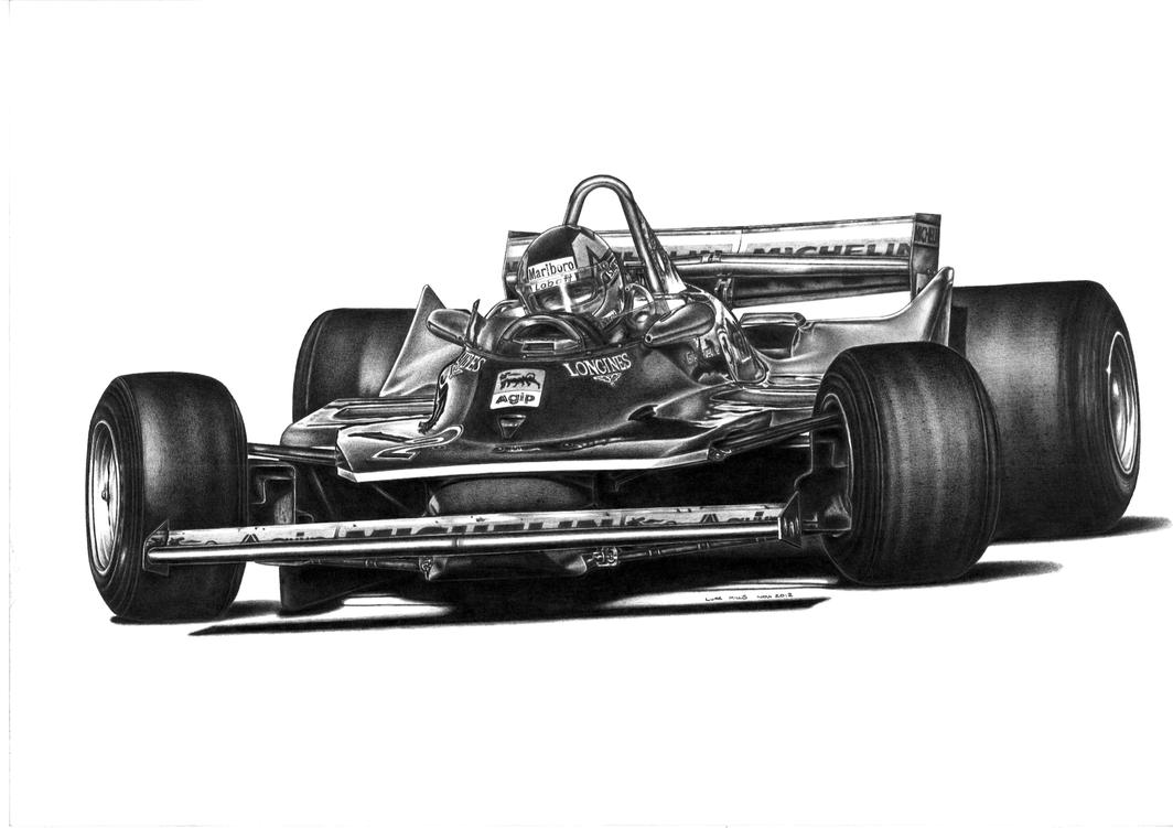 Gilles Villeneuve Ferrari 312t5 1980 By Lukem78 On