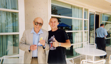 Ugly Pic of Me and Will Eisner by dadicus
