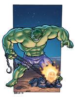 Hulk V.S. Ghost Rider by dadicus