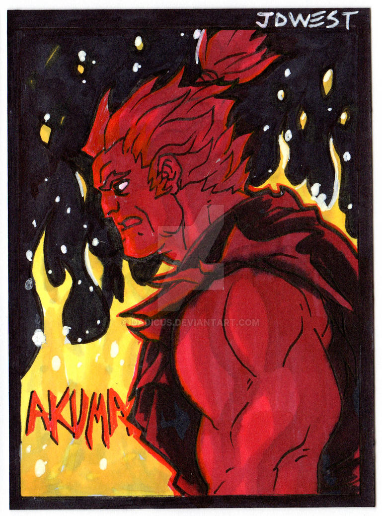 Akuma sketch card by dadicus