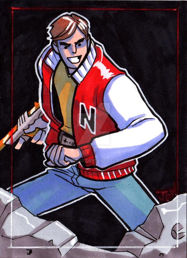 Captain N  Sketch card by dadicus