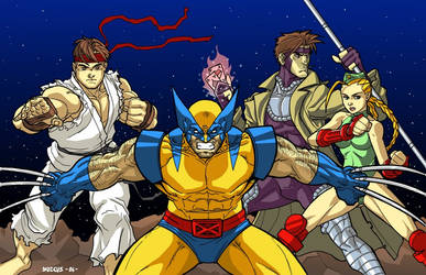 X-men V.S Street Fighter by dadicus