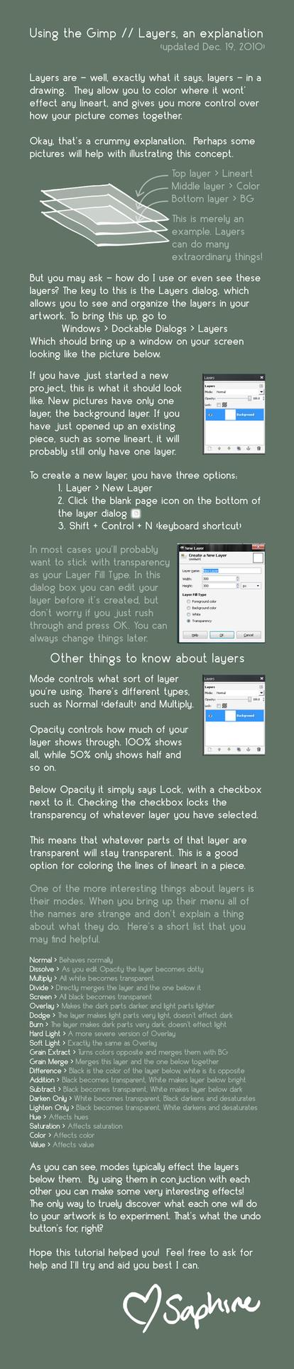 Using The GIMP :: Layers by saphiremomo