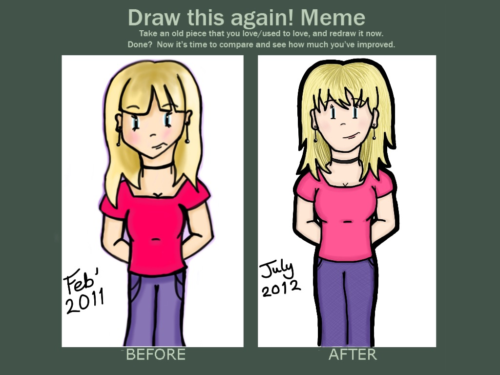Draw This Again! Meme - 1 by Helen--127