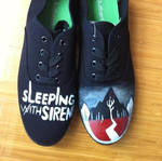 Sleeping with Sirens Hand painted Shoes