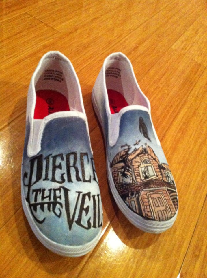 Collide With The Sky- Pierce the Veil Shoes by Imsarahx
