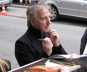 Alan Rickman giving Autographs by willow-rose14