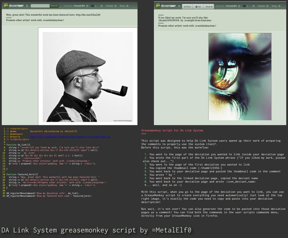 DA Link System Greasemonkey by Metalelf0 on DeviantArt