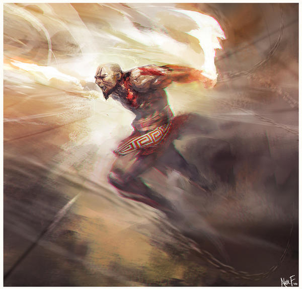 Kratos by sundragon83
