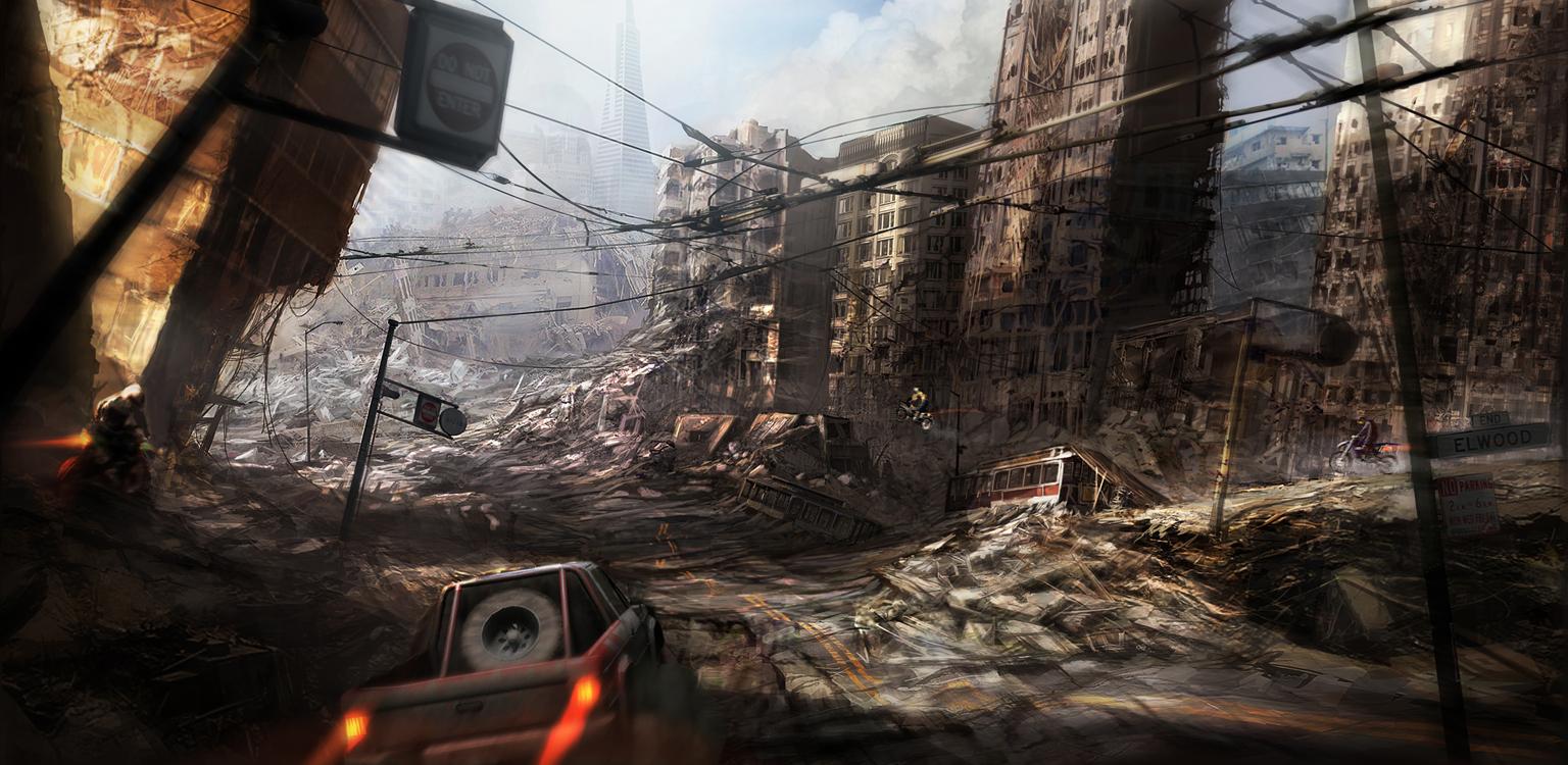 Ravaged City by sundragon83