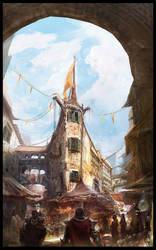 Market Street Scene by sundragon83