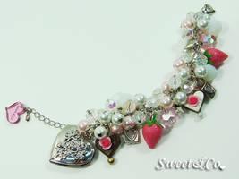 Elegant Strawberry Bracelet by SweetandCo