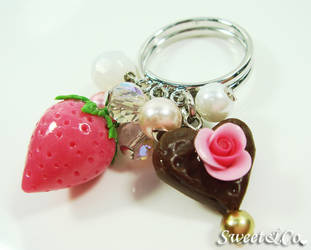 Sweet Strawberry Pearl Ring by SweetandCo