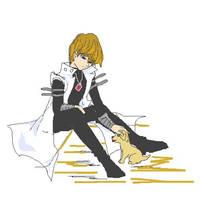Seto Kaiba and Puppy by arima