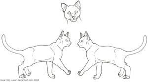 Free Cat Line Art