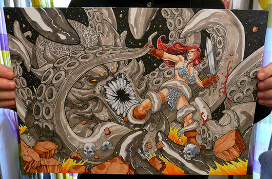 Red Sonja Commission A3 (Photo)