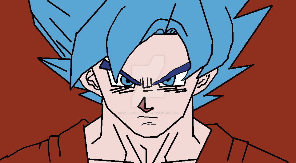Goku Ssj Dios F Para Colorear Goku Ssj Dios F Para Imprimir: Goku Ssj Dios Azul 2015 By LeandrilloDelValle On DeviantArt