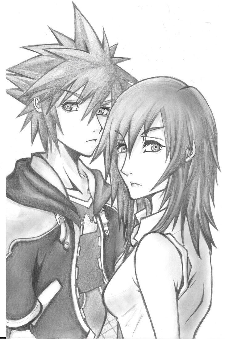 Sora and Kairi by Binety