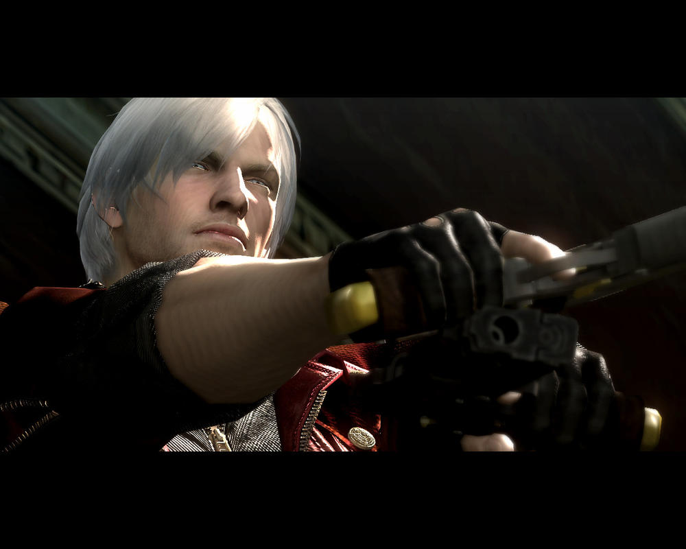 DMC4 Screens - Gun-point Dante by rog1234
