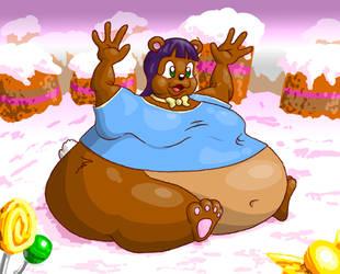 Fatty Teddy by Vellidragon