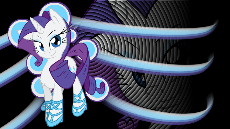Rarity Ribbon Ripple wallpaper by murknl