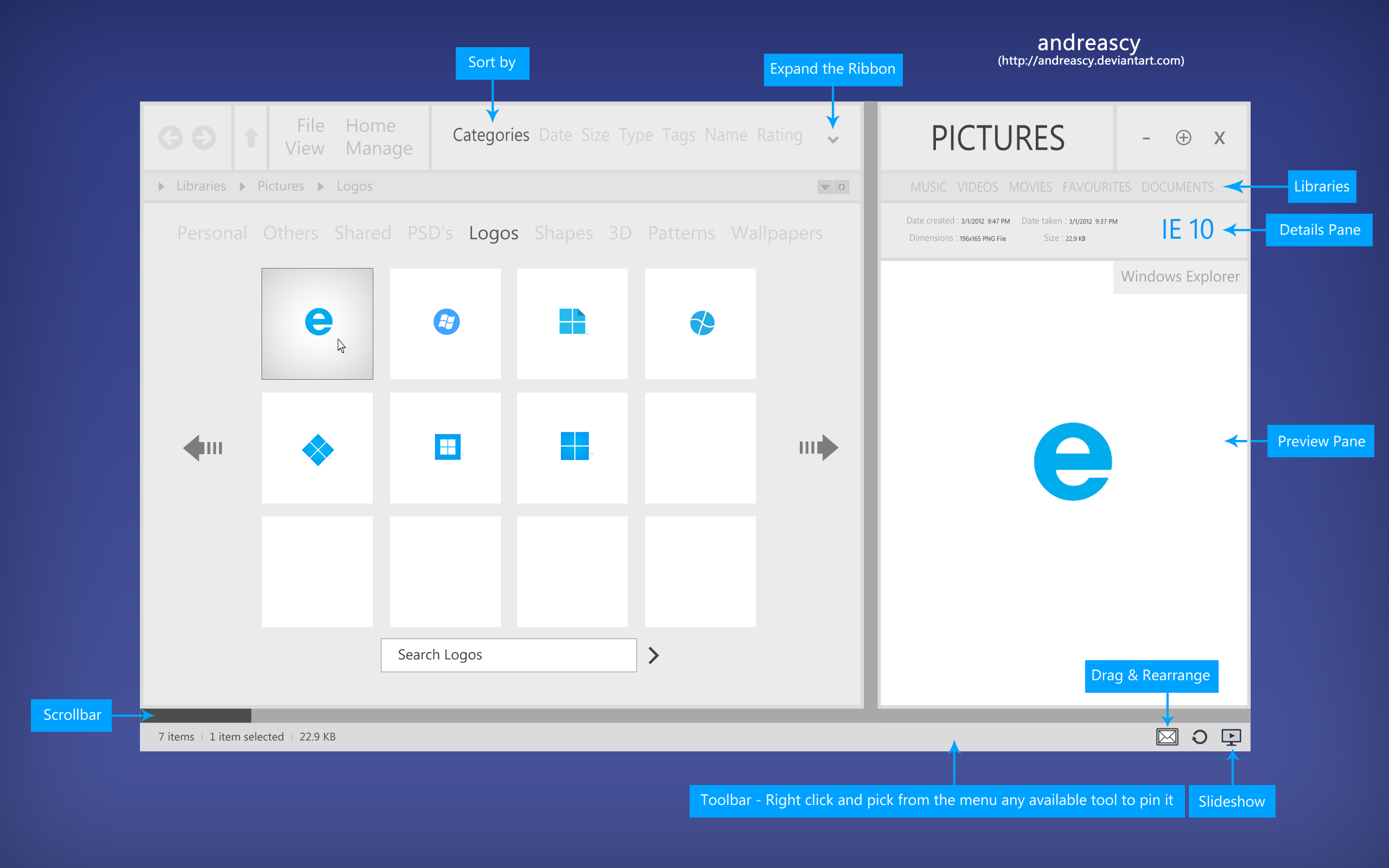 Windows Explorer Concept by andreascy