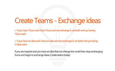 Create Teams - Exchange Ideas by andreascy