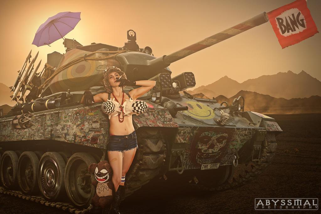 TayRex Cosplay as Tank Girl by KidAbyssmal