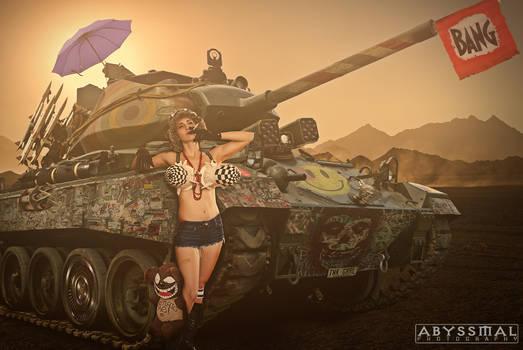 TayRex Cosplay as Tank Girl
