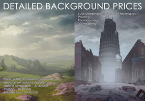 Commission info: detailed backgrounds