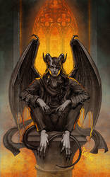 Commission: Mazek the tiefling