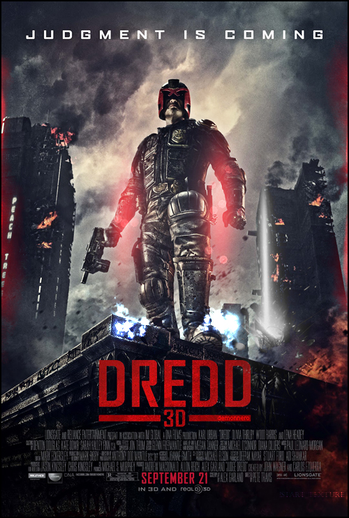 Dredd 3D Custom Poster by demonxnero