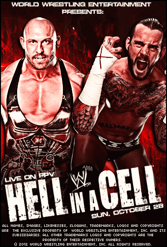 WWE Hell in a Cell Poster 2012 FanMade by demonxnero