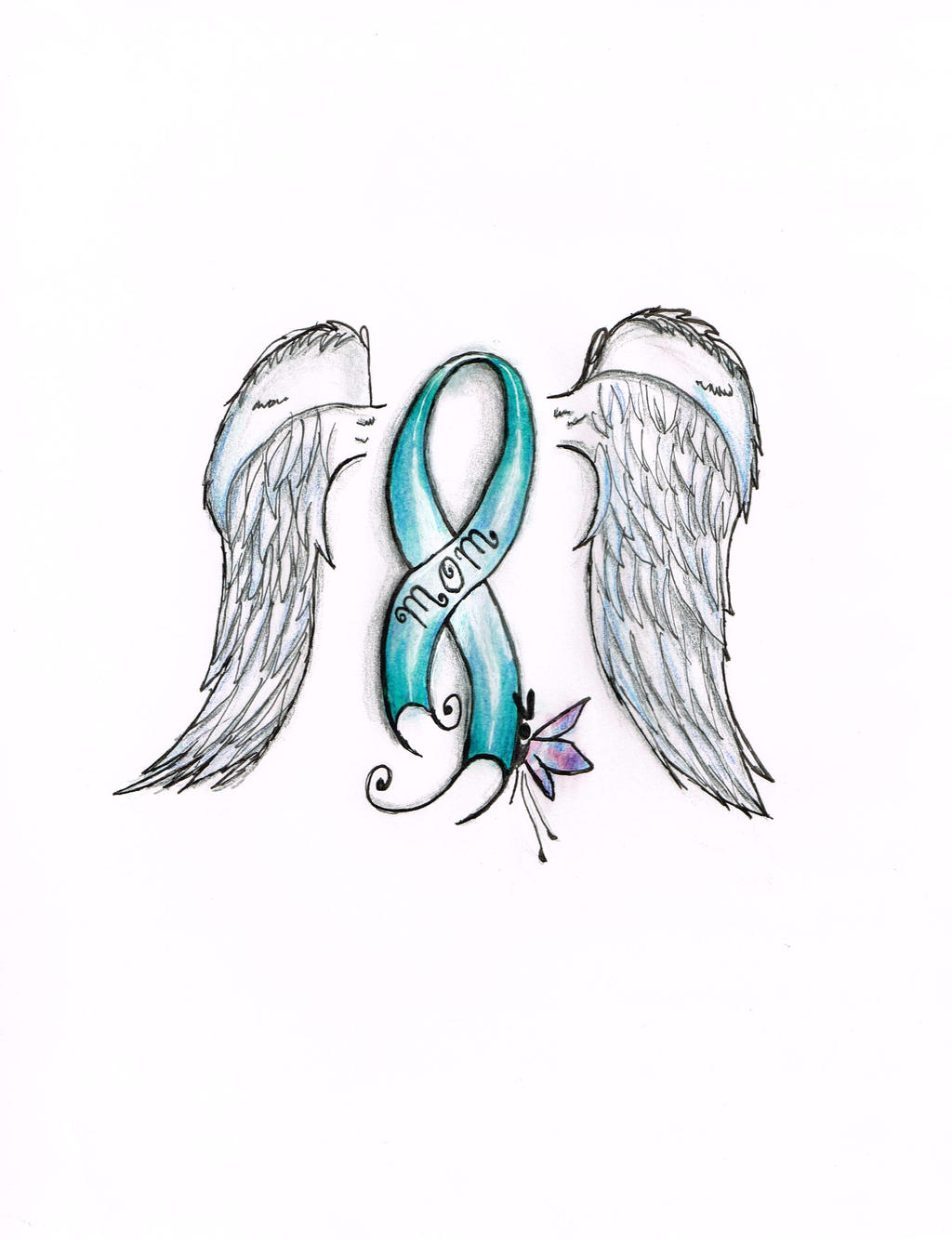 Ovarian Cancer Ribbon By The Caffiene Panda On Deviantart