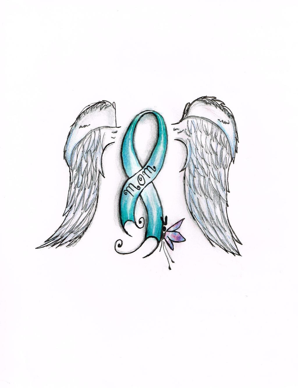 Ovarian Cancer Ribbon By Abbymayart On Deviantart
