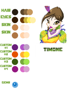 Winx OC Timone colors palette