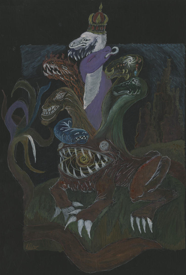 Hydra Headed Sin beast by Poorartman