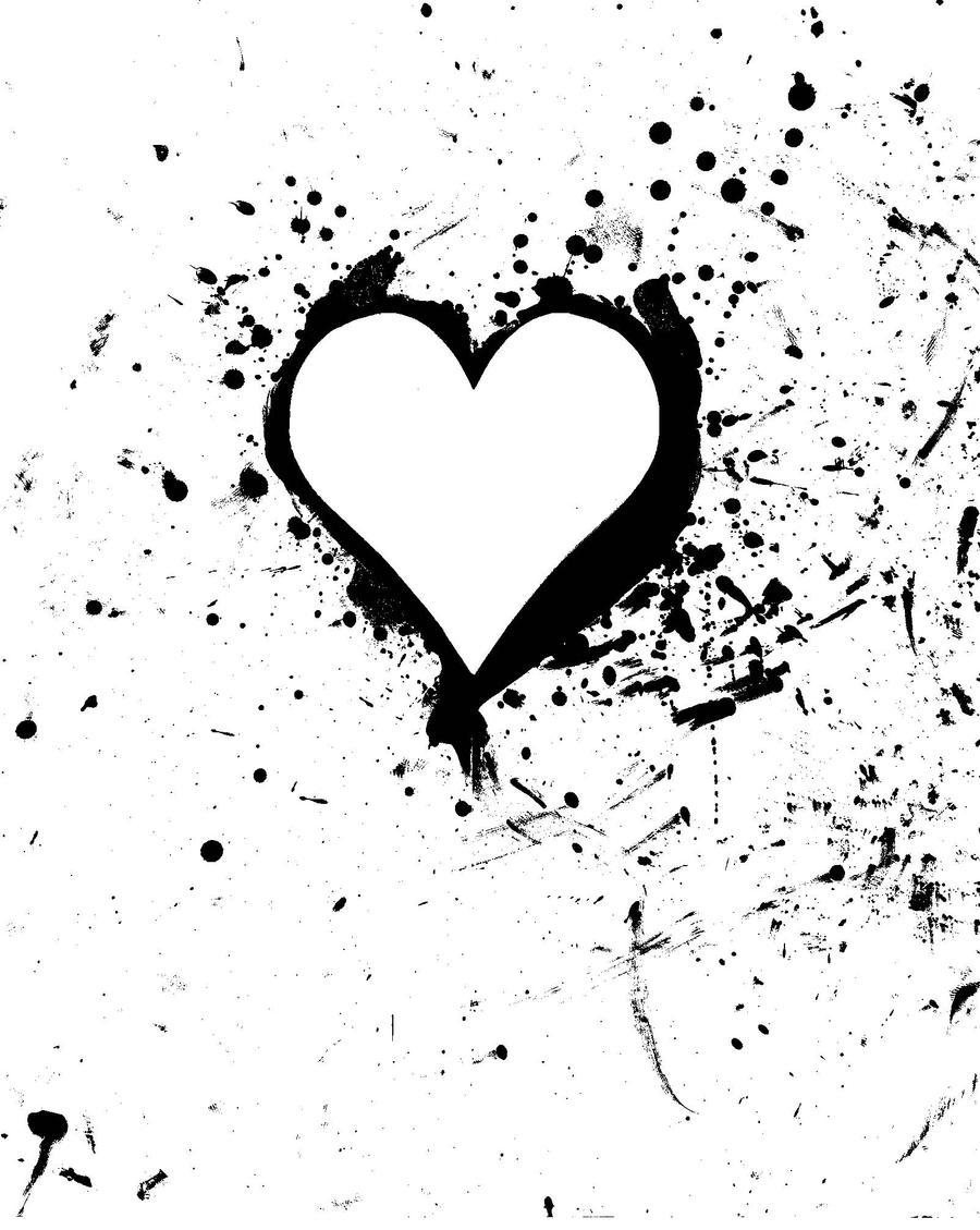 ink-original splatter heart by shayterzM on DeviantArt